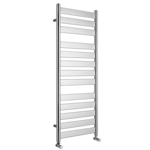 Kudox Linear Flat Ladder Towel Warmer Silver Chrome (H)1300 (W)500mm