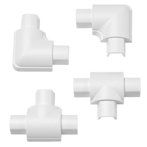 D-Line ABS Plastic White Mini Trunking Accessories (W)30mm Pieces Of 4