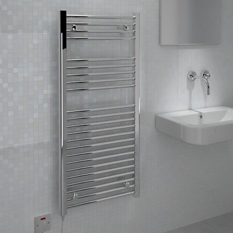 Kudox Flat Towel Warmer Chrome (H)1100 (W)500mm