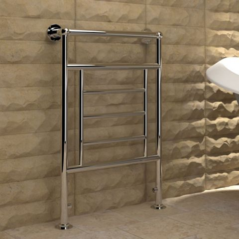 Kudox Vera Towel Warmer Silver Chrome (H)840 (W)575mm