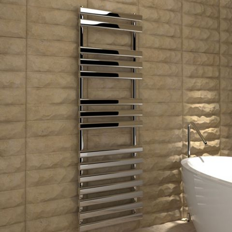 Kudox Vectis Towel Warmer Silver Chrome (H)1500 (W)500mm