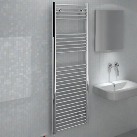 Kudox Flat Towel Warmer Chrome (H)1800 (W)600mm