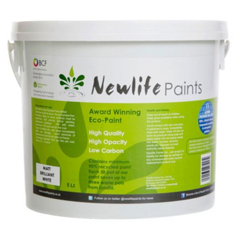 Newlife Paints Brilliant White Matt Emulsion Paint 5L