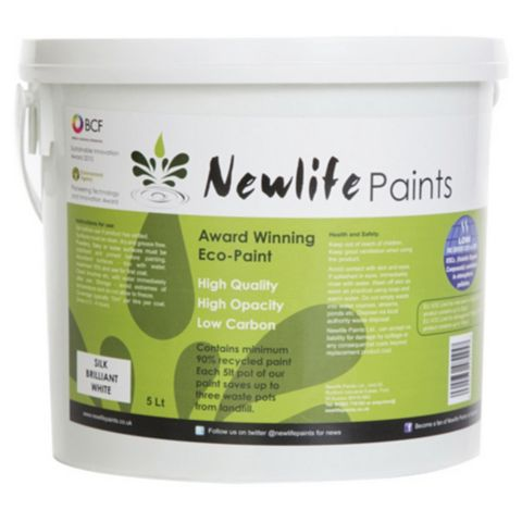 Newlife Paints Brilliant White Silk Emulsion Paint 5L