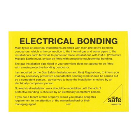 Electrical Bonding Label