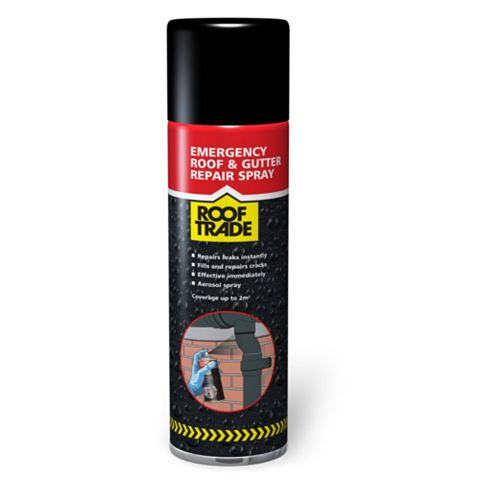 Rooftrade Black Emergency Roof Repair Aerosol 450ml
