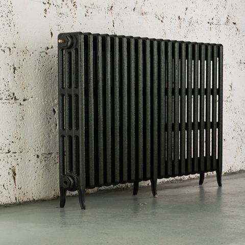 Arroll 4 Column Radiator, Pewter (W)1234 mm (H)760 mm