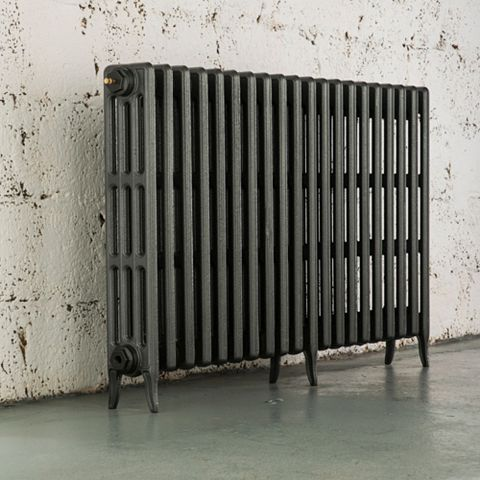 Arroll 4 Column Radiator, Cast Grey (W)1114 mm (H)760 mm