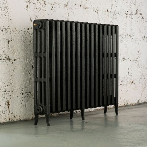 Arroll 4 Column Radiator, Pewter (W)874 mm (H)760 mm