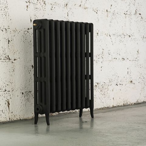Arroll Neo-Classic 4 Column Radiator, Black Primer (W)754mm (H)760mm