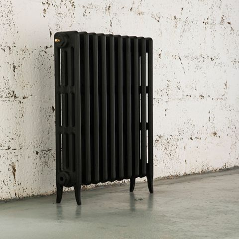 Arroll 4 Column Radiator, Black Primer (W)634 mm (H)760 mm