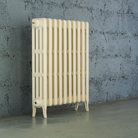 Arroll 4 Column Radiator, Cream (W)634 mm (H)760 mm