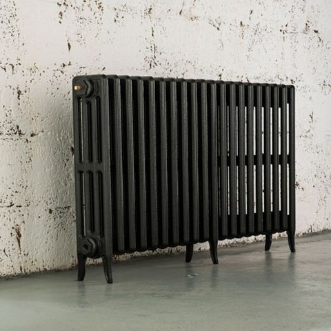 Arroll 4 Column Radiator, Pewter (W)1114 mm (H)660 mm