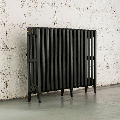 Arroll 4 Column Radiator, Pewter (W)994 mm (H)660 mm