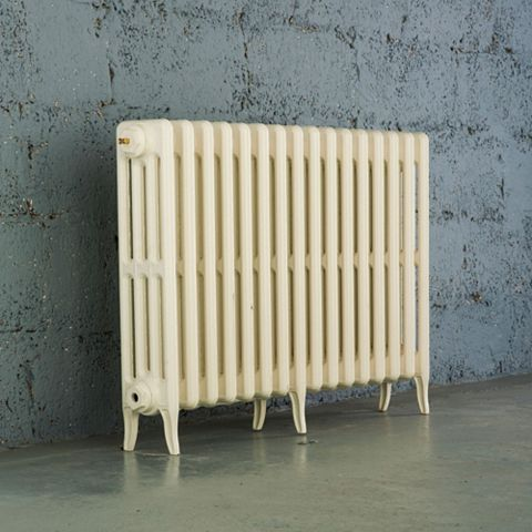 Arroll 4 Column Radiator, Cream (W)994 mm (H)660 mm