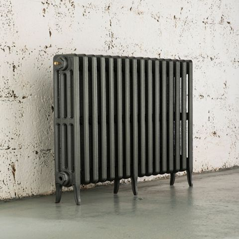 Arroll 4 Column Radiator, Cast Grey (W)874 mm (H)660 mm