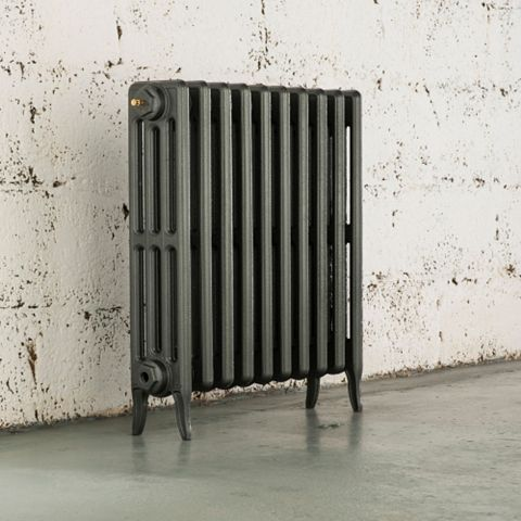 Arroll 4 Column Radiator, Cast Grey (W)634 mm (H)660 mm