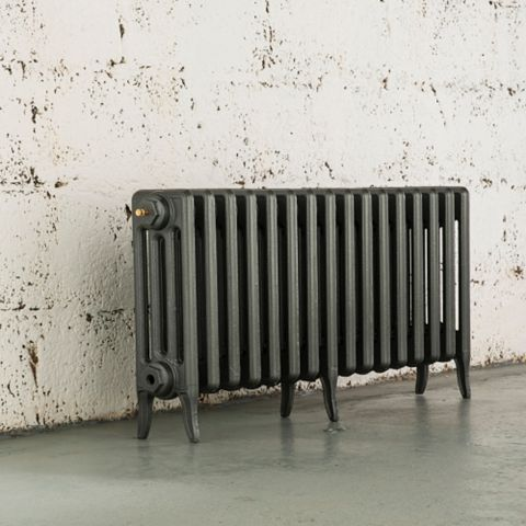 Arroll 4 Column Radiator, Cast Grey (W)874 mm (H)460 mm
