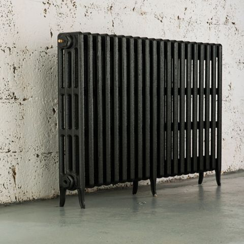 Arroll 4 Column Radiator, Anthracite (W)1234 mm (H)760 mm