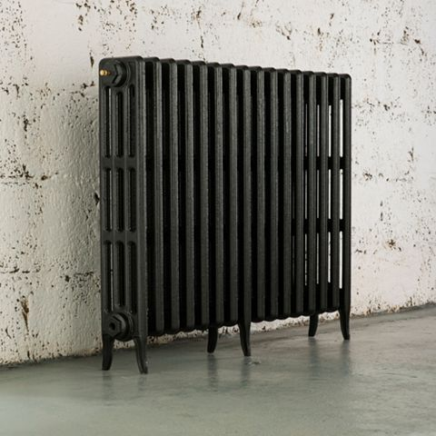 Arroll 4 Column Radiator, Anthracite (W)874 mm (H)760 mm