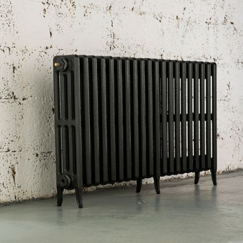 Arroll 4 Column Radiator, Anthracite (W)1114 mm (H)660 mm