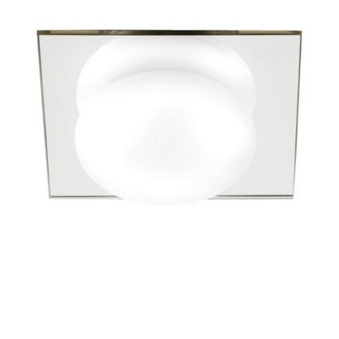 Revel Clear Mirrored Effect Bathroom Flush Light