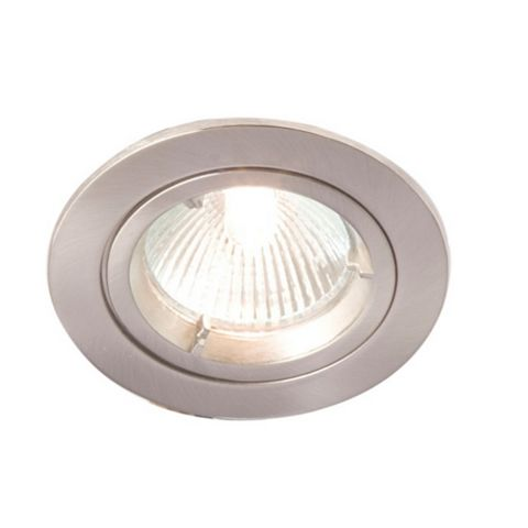 Robus Brushed Chrome Effect Aluminium Downlight