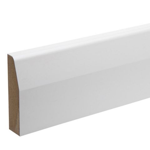 Kota White Polymer Coated MDF Chamfered Architrave (L)2180mm (W)69mm (T)18mm