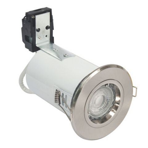 Robus Brushed Chrome Pressed Steel Downlight