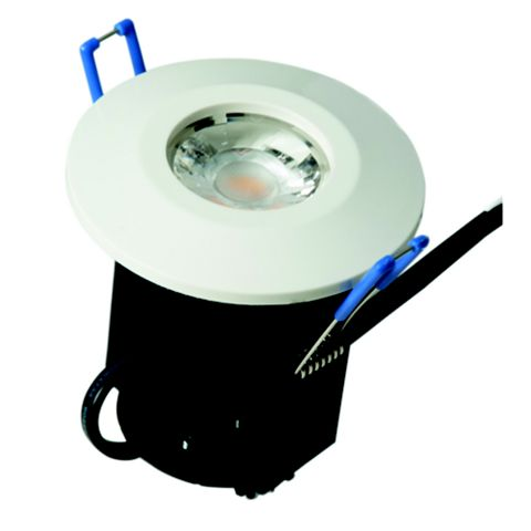 Robus Fire Rated White LED Downlight 8 W