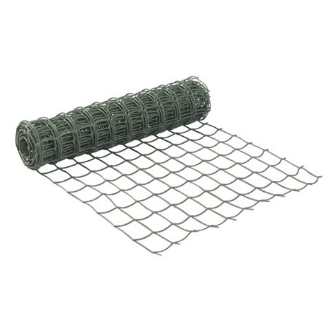 Green Plastic Wire Mesh (W)500mm (L)5m