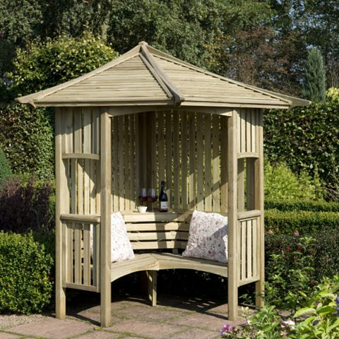 Solway Wooden Corner Arbour - Assembly Required
