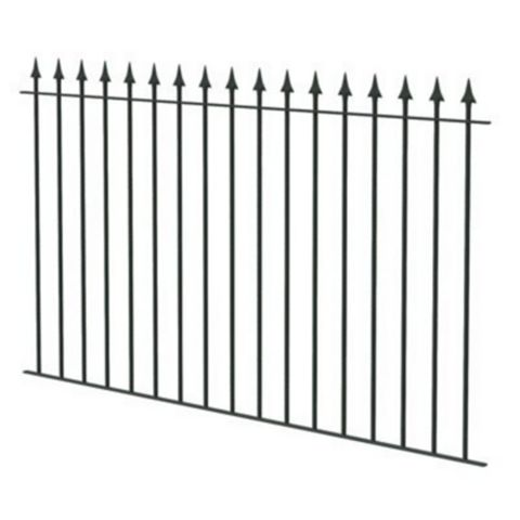 Spear Top Spear Black Fence, (L)1810mm
