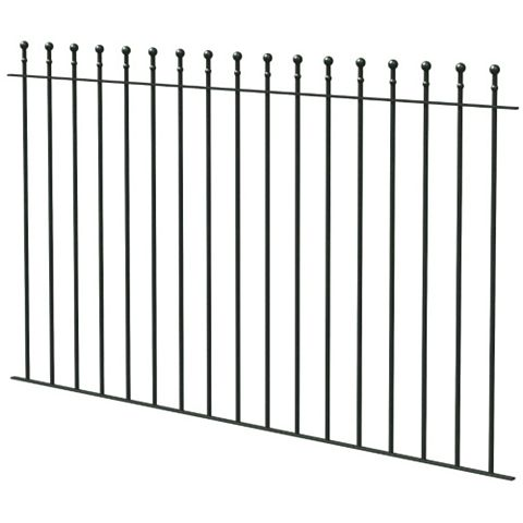 Ball Top Ball Black Fence, (L)1810mm