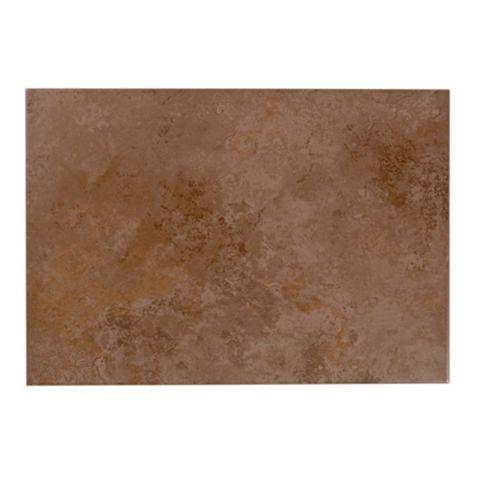 Castle Travertine Chocolate Ceramic Wall Tile, Pack of 7, (L)450mm (W)316mm