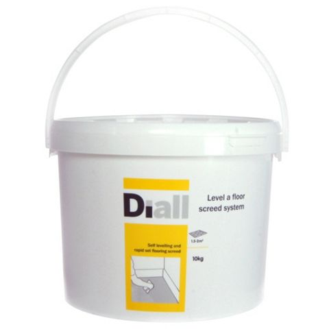Diall Latex & Cement Powder Floor Leveller, 10kg Plastic Bucket