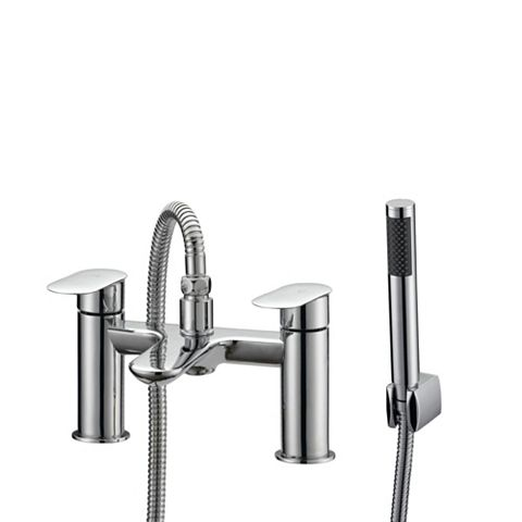 Cooke & Lewis Saru Chrome Bath Shower Mixer Tap