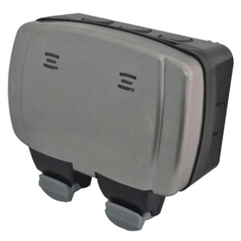 Diall 13A 2-Gang External Socket