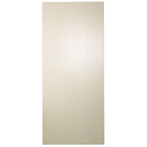 Cooke & Lewis Gloss Cream Slab Tall Wall Panel, 335 x 900mm