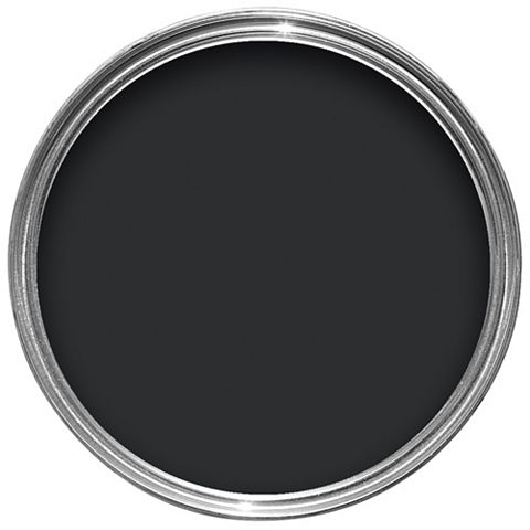 Colours Quick Dry Exterior Black Gloss Paint 2.5L
