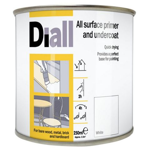 Diall White Primer & Undercoat 250ml