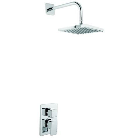 Cooke & Lewis Linear Chrome Dual Control Mixer Shower