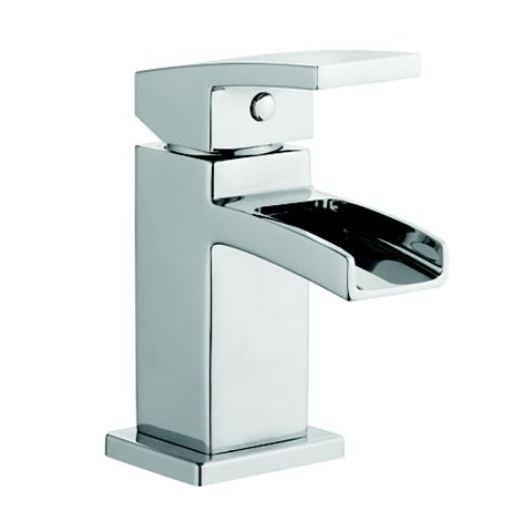 Cooke & Lewis Cascade Waterfall 1 Lever Mini Basin Mixer Tap