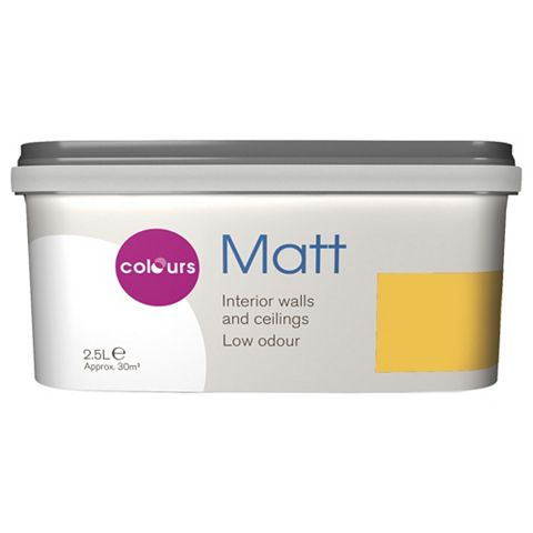 Colours Narcissi Matt Emulsion Paint 2.5L