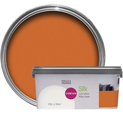 Colours Orange Silk Emulsion Paint 2.5L