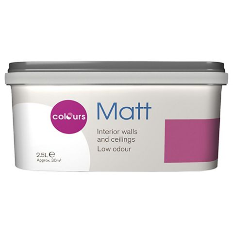 Colours Playful Pink Matt Emulsion Paint 2.5L
