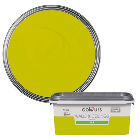 Colours Lime Silk Emulsion Paint 2.5L