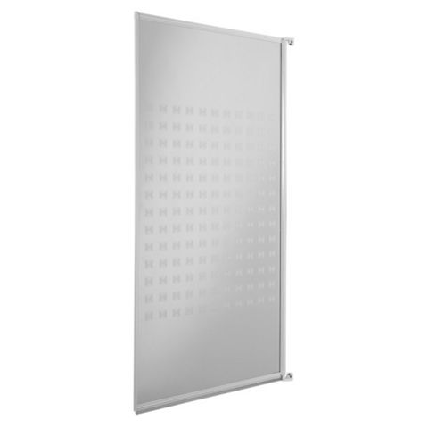 Cooke & Lewis Value Fixings Supplied Framed Shower Screen Bath Screen (W)750mm