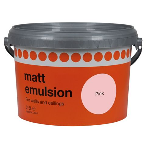 B&Q Pink Matt Emulsion Paint 2.5L