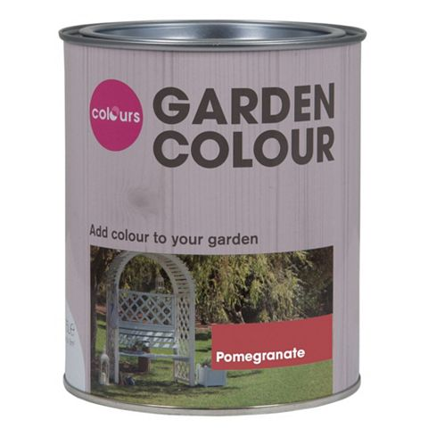 Colours Garden Pomegranate Matt Woodstain 750ml